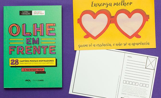 Livro Olhe em Frente, para motivar e ajudar