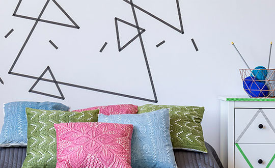Tape art para decorar ambientes corporativos e casas