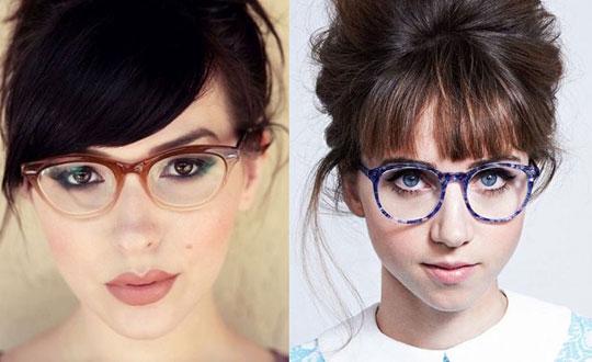 Óculos de grau como acessório