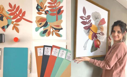 Colagens na parede por Belca: conheça a artista visual